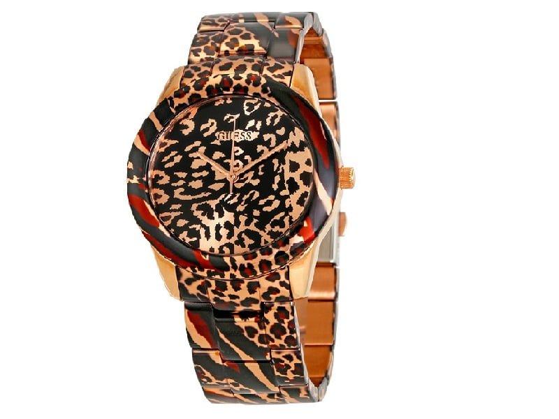 Đồng hồ Guess da beo W0425L3