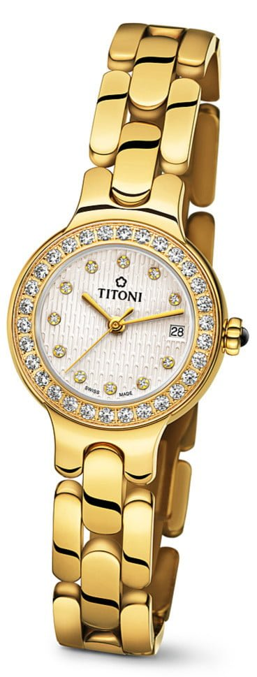 Titoni - Mademoiselle By Titoni Đồng Hồ Nữ Quartz ETA 956.032 - TQ42915GDB382 1