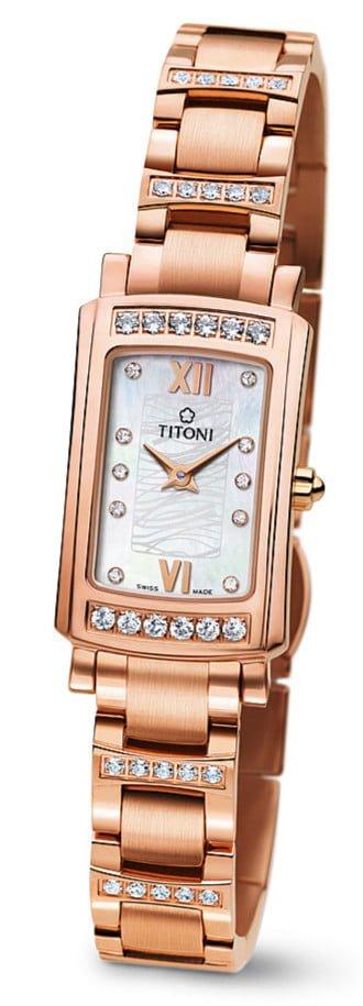 Titoni - Mademoiselle By Titoni Đồng Hồ Nữ Quartz ETA 956.032 - TQ42931RGDBB145 1
