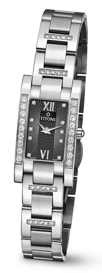 Titoni - Mademoiselle By Titoni Đồng Hồ Nữ Quartz ETA 956.032 - TQ42954SDBB373 1