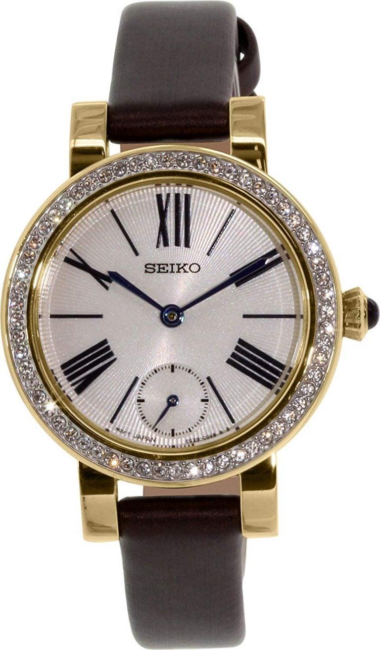 Seiko - Seiko Quartz Swarovski Đồng Hồ Nữ Quartz - SRK030P1 1