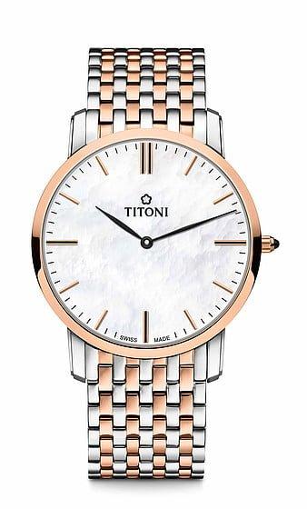 Titoni - Slenderline Đồng Hồ Nam Quartz ETA 956.032 - TQ52918SRG587 1