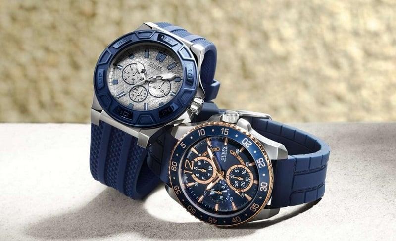 Đồng hồ Guess tông xanh dương - Cá tính, mạnh mẽ đầy mới lạ
