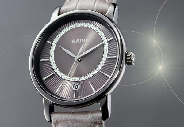 Rado DiaMaster sử dụng các vật liệu cao cấp từ gốm công nghế đến kim cương